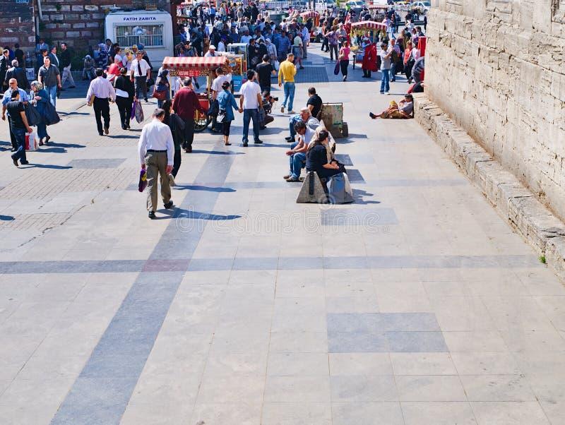 Les gens au secteur d'Eminonu photos libres de droits