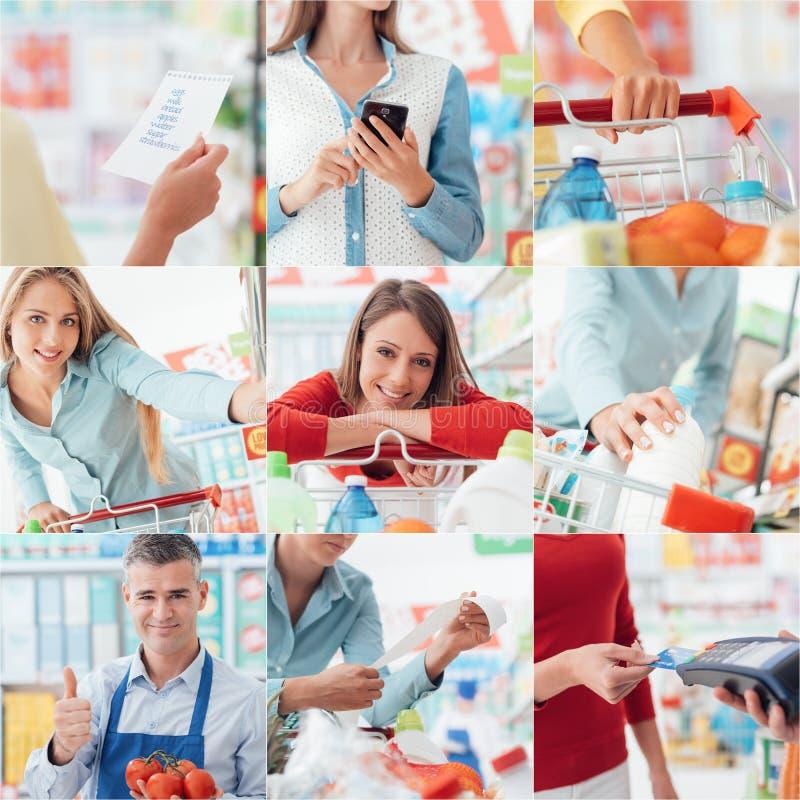 Les gens au supermarché image libre de droits