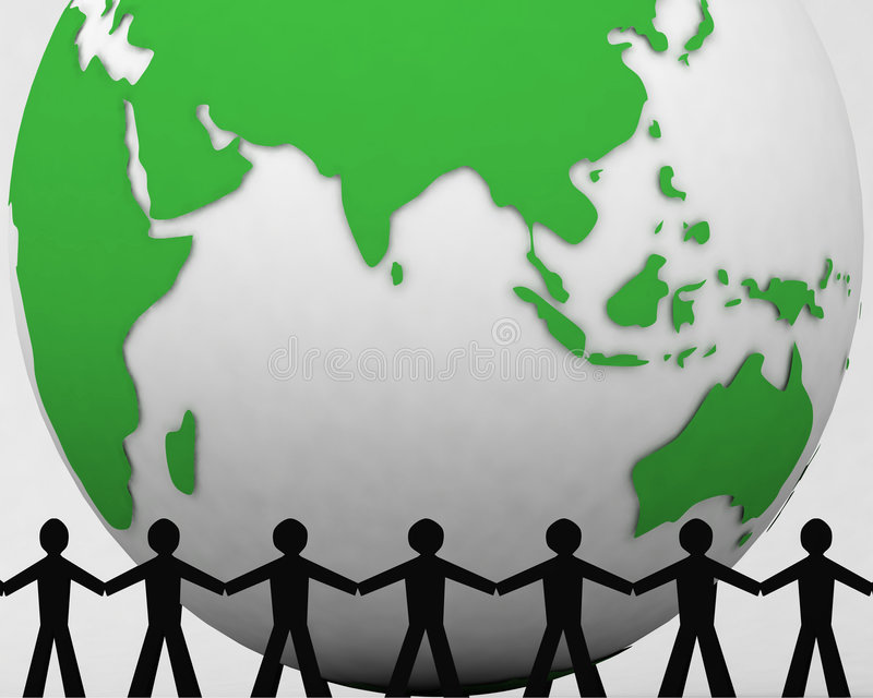 Les gens autour du globe 002 illustration de vecteur