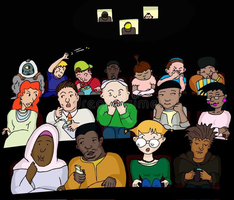 Les gens aux films illustration libre de droits