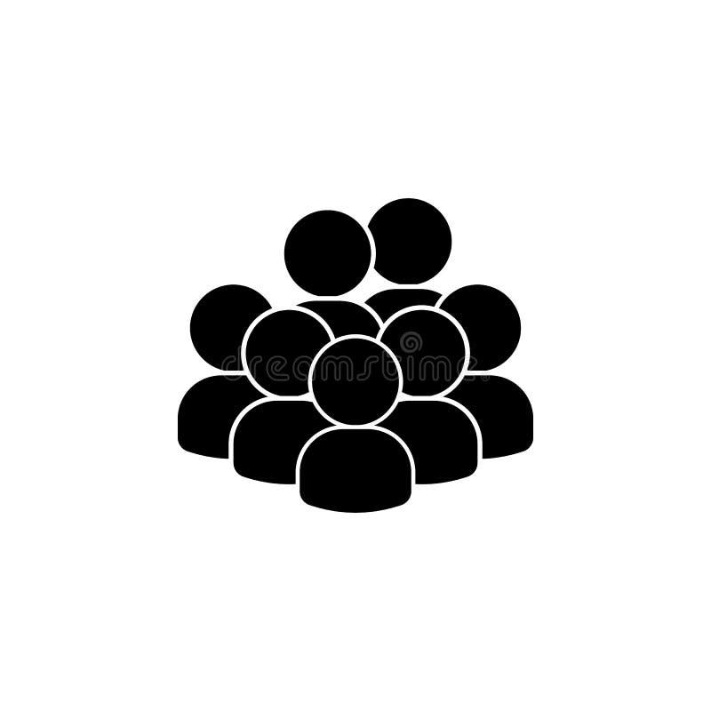 les gens, avatars, icône d'équipe Élément d'un groupe de personnes l'icône Icône de la meilleure qualité de conception graphique  illustration libre de droits