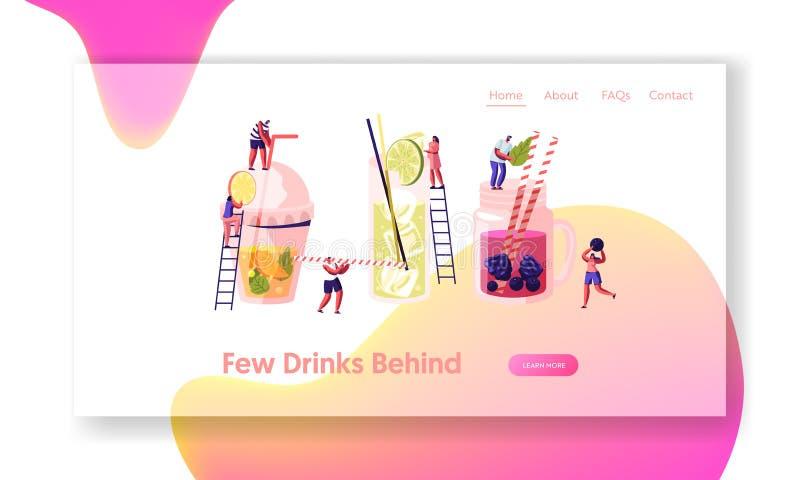 Les gens buvant les boissons froides, choisissent des boissons illustration libre de droits