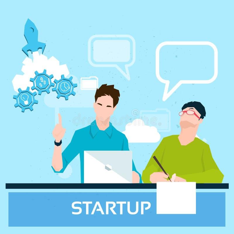 Les gens d'affaires groupent le concept fonctionnant de démarrage de travail d'équipe illustration stock