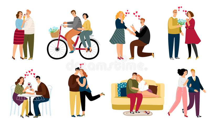 Les gens dans l'ensemble d'amour illustration libre de droits
