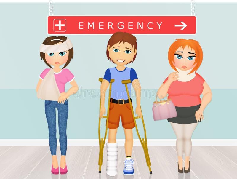 Les gens dans la chambre de secours illustration stock