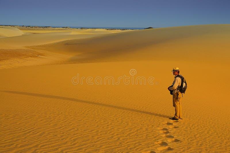 Les gens dans le désert photos libres de droits