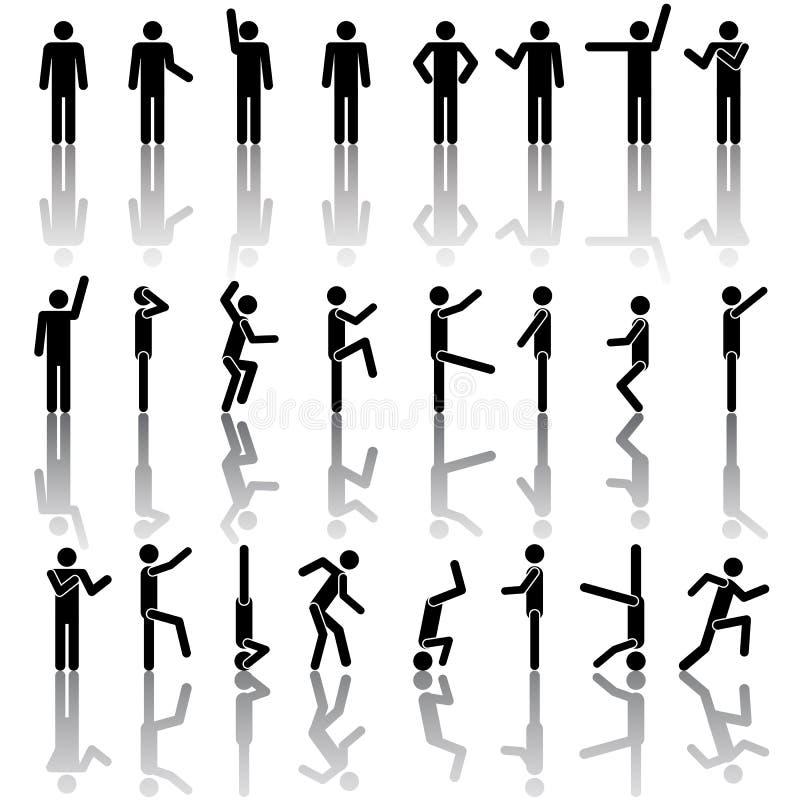 Les gens dans le graphisme différent de vecteur de poses illustration de vecteur