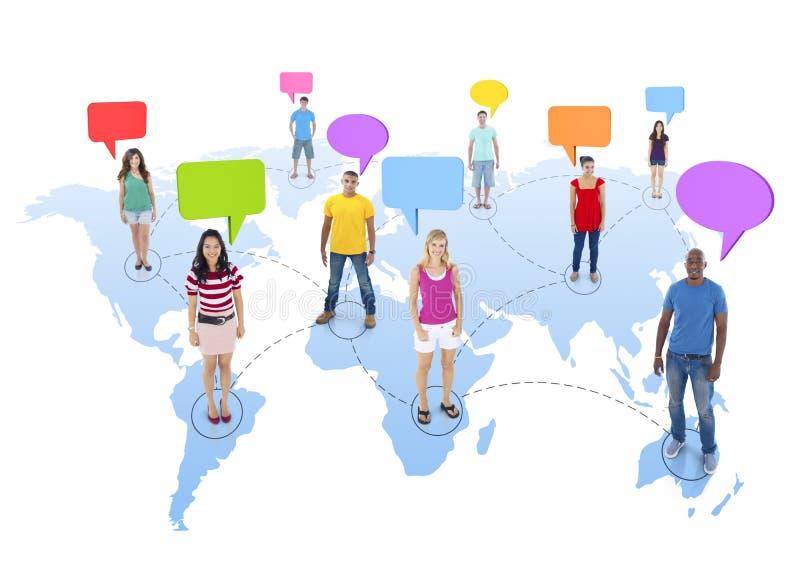 Les gens dans le monde relié ensemble illustration de vecteur