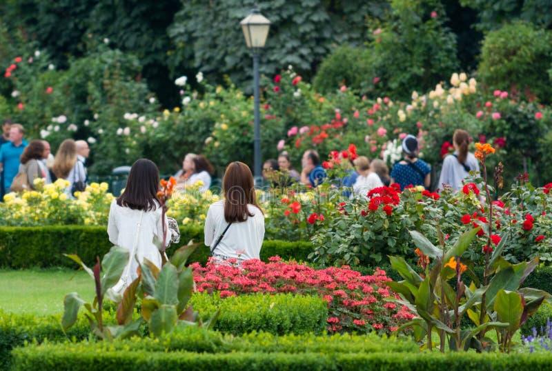 Les gens dans Volksgarten Vienne photos libres de droits