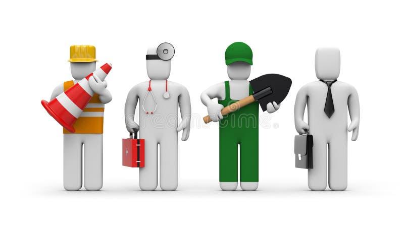 Les gens de différentes professions illustration stock