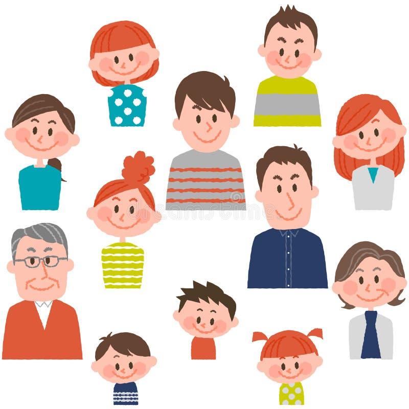 Les gens de divers âges avec l'illustration de vecteur illustration de vecteur