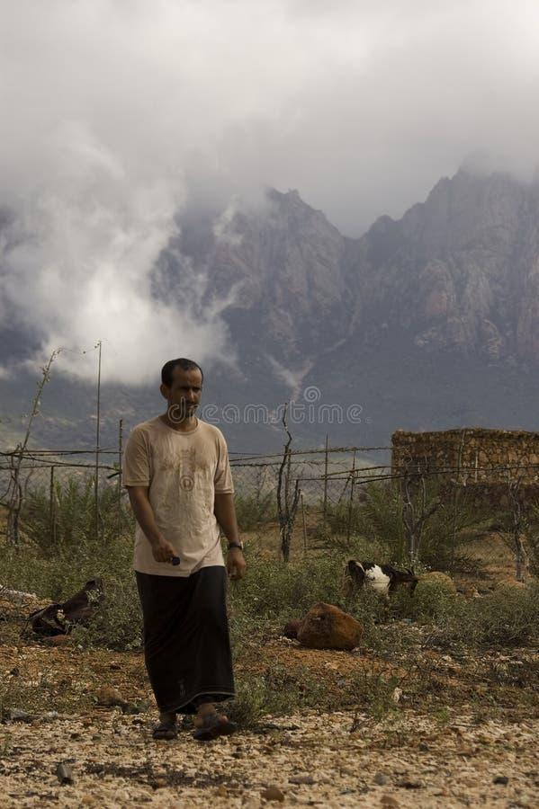 Les gens de l'île de Socotra photo libre de droits