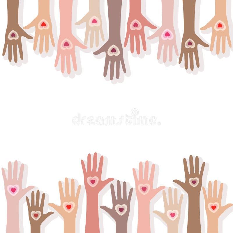 Les gens donnant leur amour illustration libre de droits