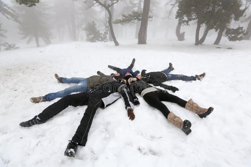 Les gens en hiver images libres de droits