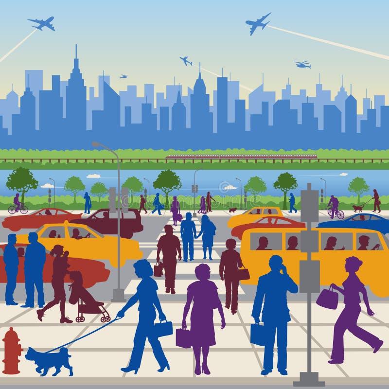 Les gens en transit illustration stock