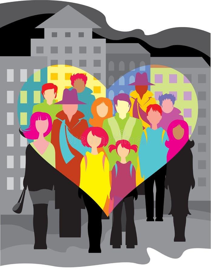 Les gens et l'amour illustration stock