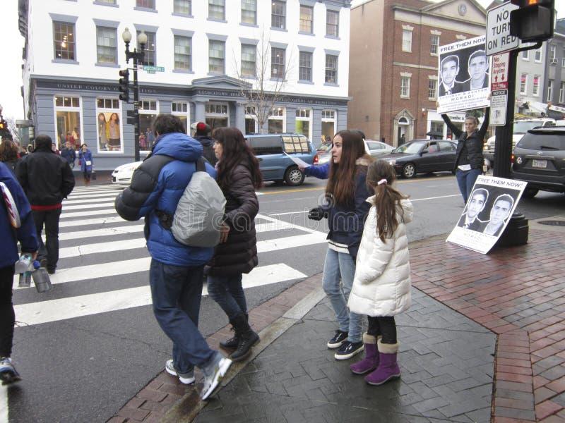 Les gens et le protestataire images stock
