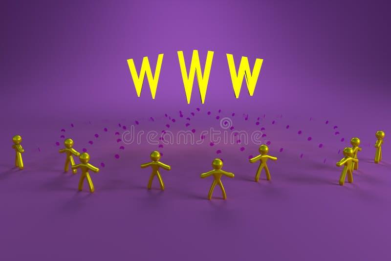 Les gens et le WWW illustration stock