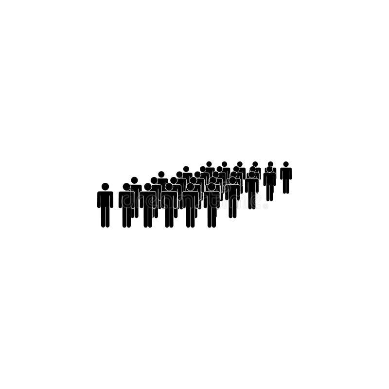 les gens, groupe, icône luxuriante Élément d'un groupe de personnes l'icône Icône de la meilleure qualité de conception graphique illustration libre de droits