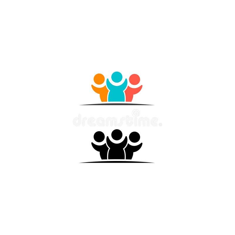 Les gens groupent l'icône de vecteur d'isolement sur le fond blanc 6 illustration libre de droits
