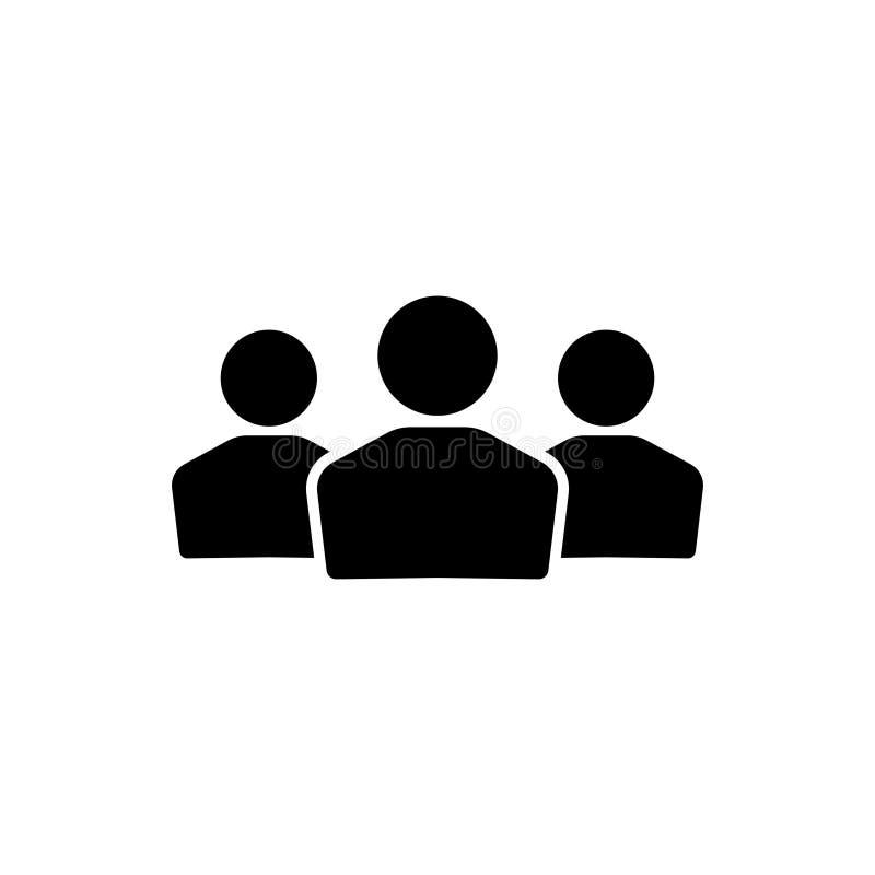 Les gens groupent l'icône de vecteur d'isolement sur le fond blanc 8 illustration libre de droits
