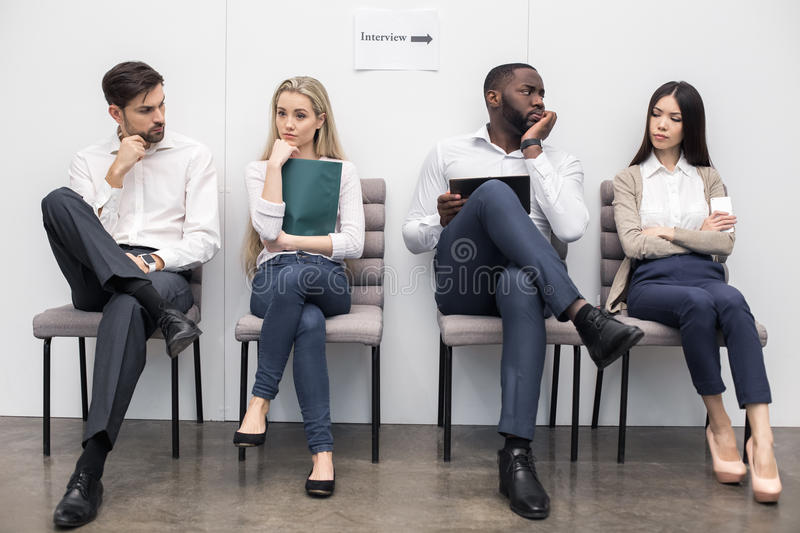 Les gens Job Interview Concept de attente photo libre de droits
