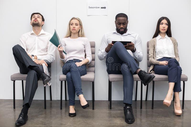 Les gens Job Interview Concept de attente images libres de droits