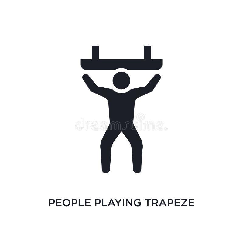 les gens jouant l'icône d'isolement par trapèze illustration simple d'élément des icônes récréationnelles de concept de jeux les  illustration de vecteur