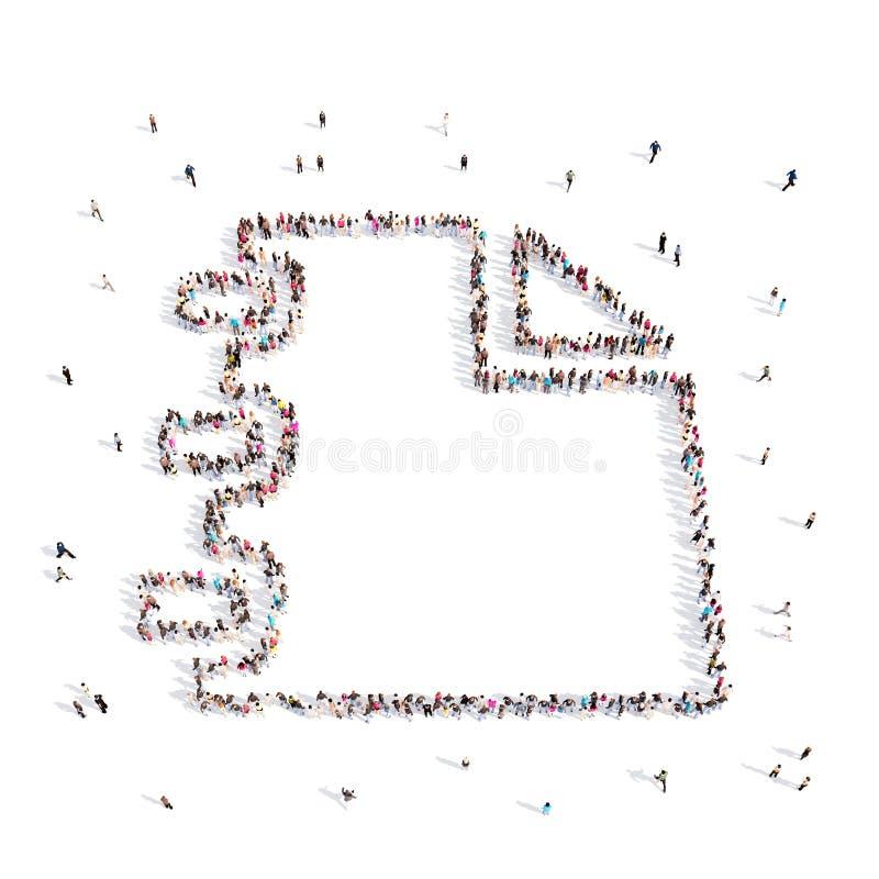 Les gens marchant en papier illustration libre de droits