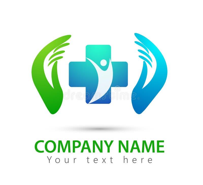 Les gens, parent, enfant, logo, parenting, soin, mains, santé, éducation, couverture de symbole par l'icône de mains illustration stock