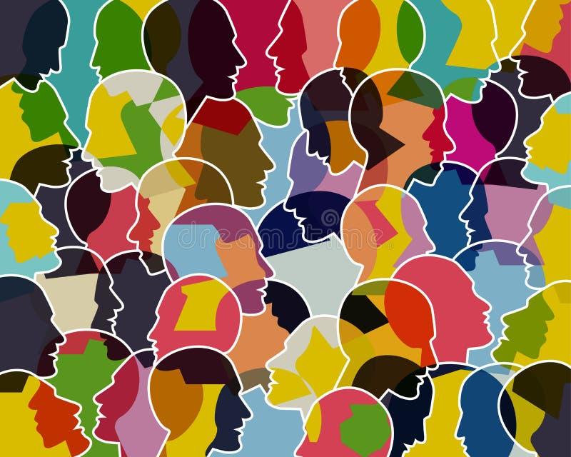 Les gens parlant, concept de pensée illustration libre de droits