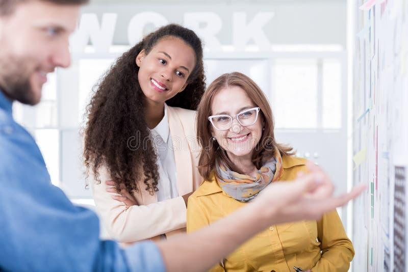 Les gens pendant la formation à un emploi image libre de droits