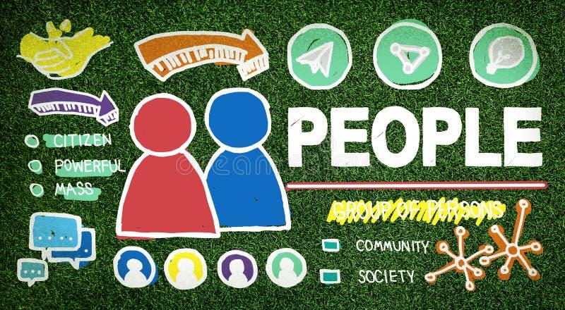 Les gens Person Group Citizen Community Concept illustration libre de droits