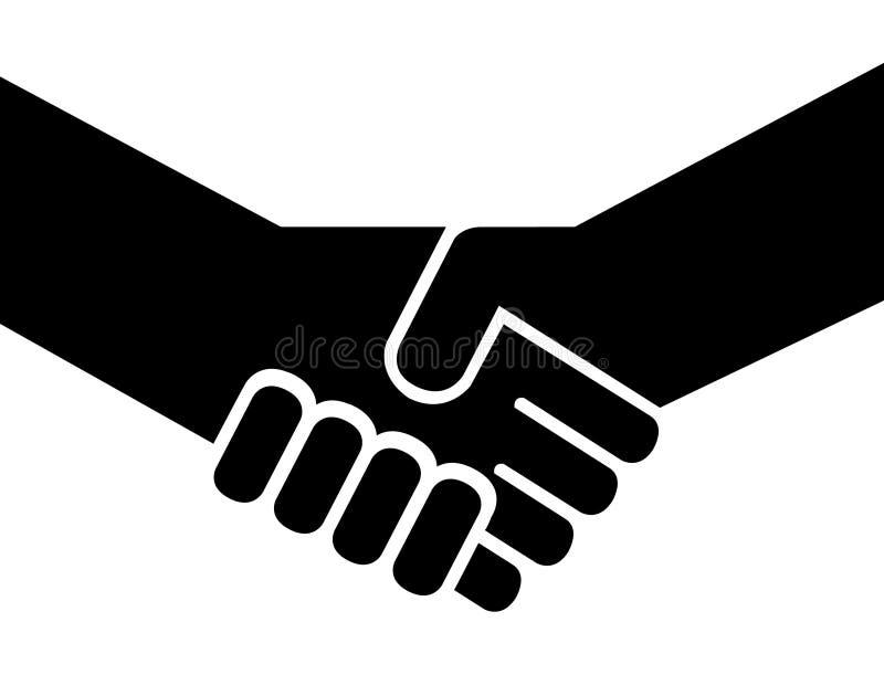 Les gens se serrant la main illustration de vecteur