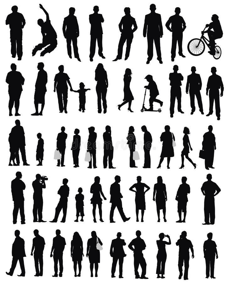 Les gens (style de vie, faisant des emplettes) illustration de vecteur