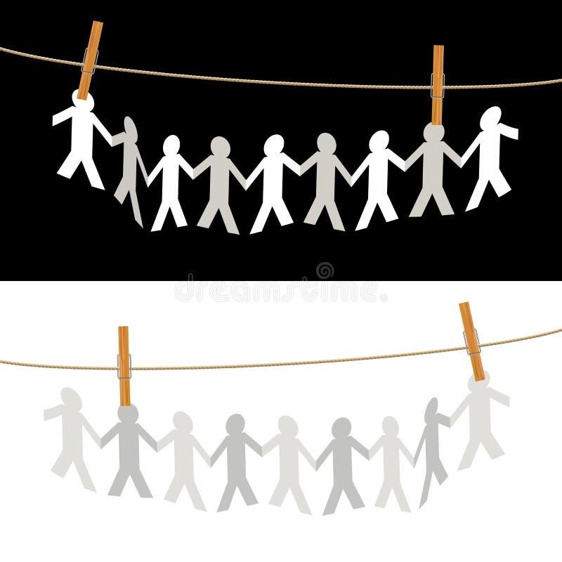Les gens sur la corde illustration libre de droits