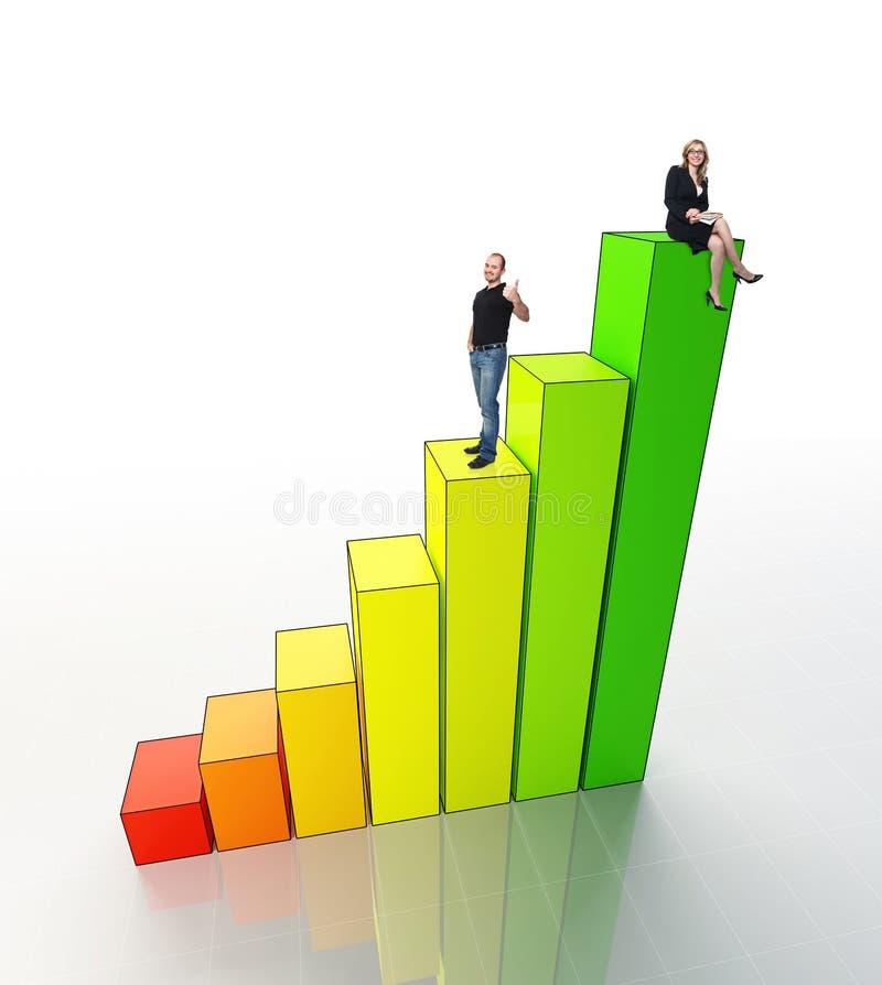 Les gens sur le graphique 3d illustration libre de droits