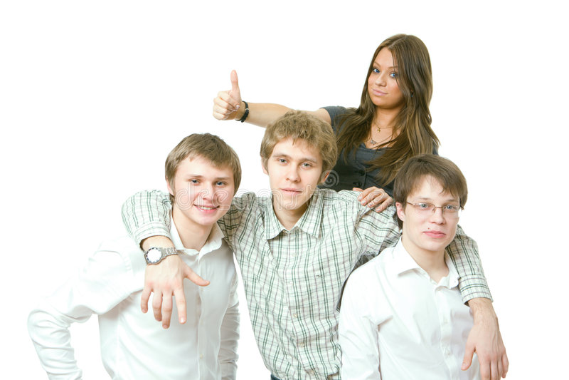les gens team des jeunes image libre de droits