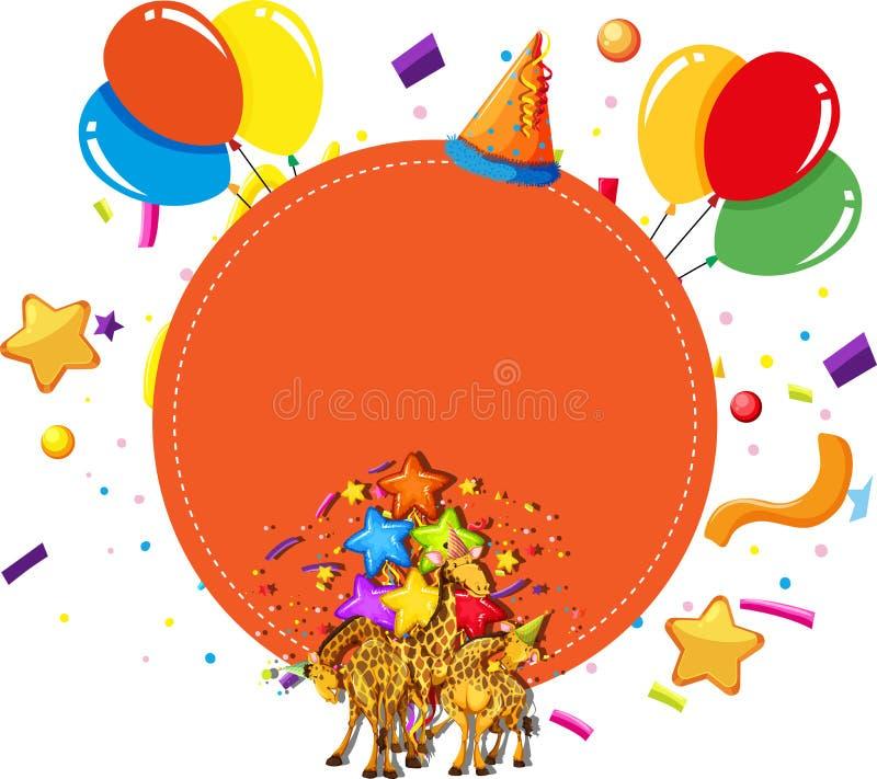 Les girafes font la fête le concept de célébration illustration libre de droits