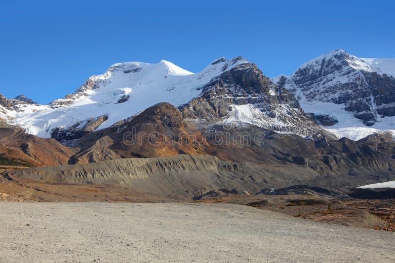 Les gisements de glace aménagent en parc en parc national de jaspe image stock