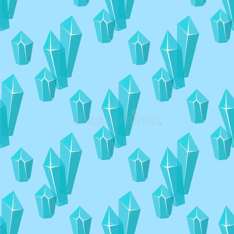 Les glaçons sans couture de fond de modèle de congères réalistes de calottes glaciaires cassés rapiècent l'hiver congelé froid de illustration libre de droits