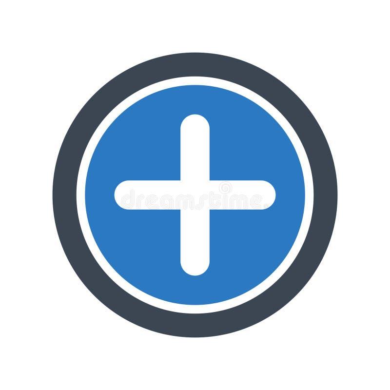 Les glyphs plus colorent l'icône de vecteur illustration libre de droits