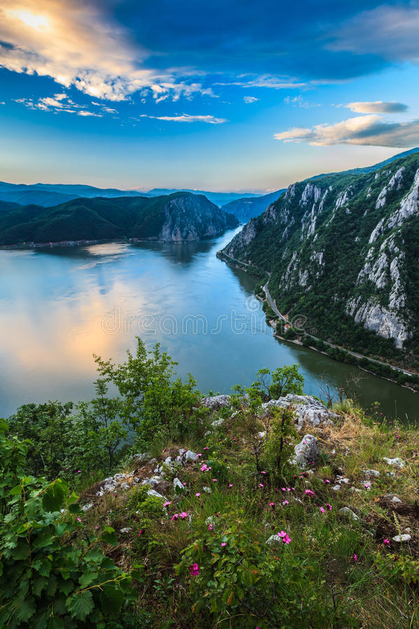Les gorges de Danube images libres de droits