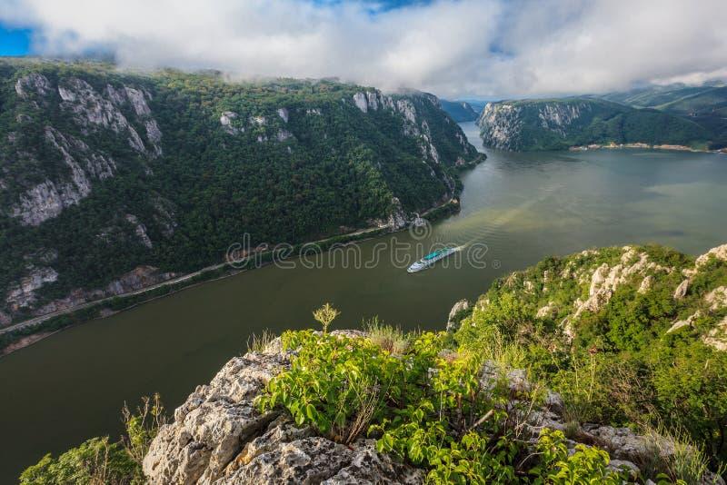 Les gorges de Danube image libre de droits