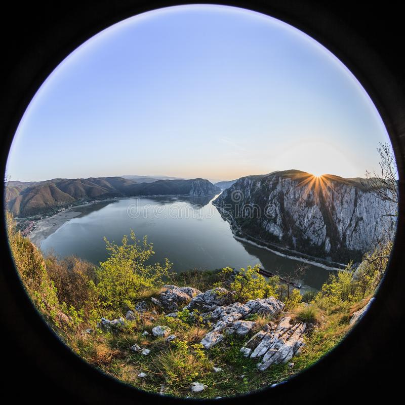 Les gorges de Danube, Roumanie images stock