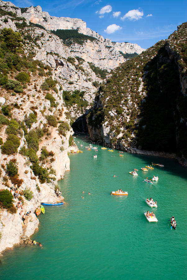 Les Gorges du Verdon photo stock