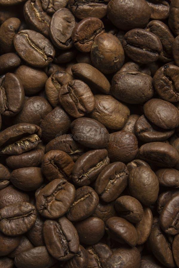 Les grains de café se ferment vers le haut de la texture images libres de droits