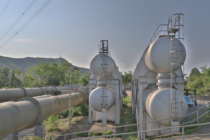 les grandes conduites d'eau au HK 12 peuvent 2019 image stock