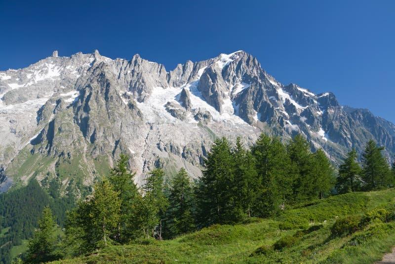 Les Grandes Jorasses - Mont Blanc fotografía de archivo libre de regalías