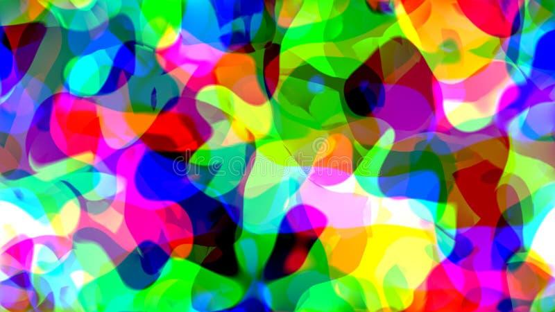 Les grandes taches de couleur créent un beau modèle illustration stock